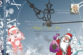 real estate new years cards power real estate marketing new year postcards happy christmas