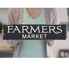 Home Decor Wooden Signs Amazon Com Farmers Market Sign Farmhouse Wall Decor Rustic