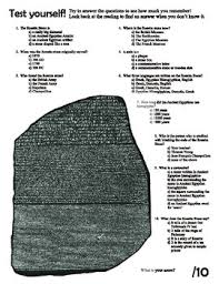 ancient egypt rosetta stone reading and questions worksheet by