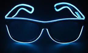 bright flashes of light in eye el wire glow eye glasses led dj bright safety light up led flashing