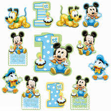 baby mickey mouse 1st birthday cake topper centerpiece