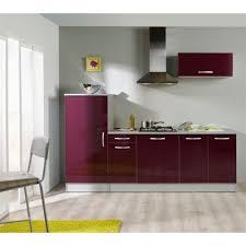 meuble de cuisine aubergine last meubles pack cuisine 3 meubles solange aubergine brillant