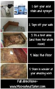 how to acid stain concrete for beginners moose tracks and tater