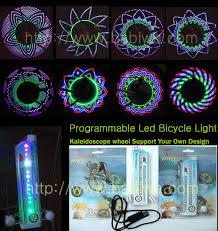 programmable diy luxury bicycle wheel light spoke light 16 led