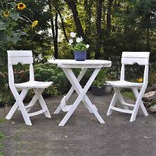 Folding Patio Bistro Set Outdoor Strong Patio Camping Picnic Quik Fold Cafe Bistro Set