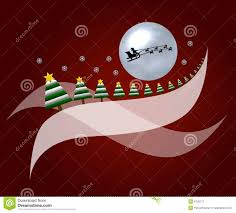 moon with sleigh and trees stock image image 6726711