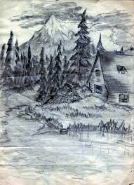 best pencil sketches of nature pencil drawing nature scenery