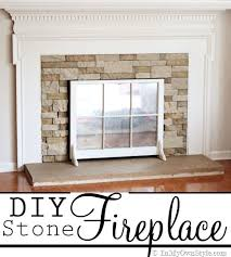 how to paint a concrete hearth to look like stone in my own style