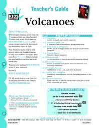 volcanoes kids discover volcano lesson plans 4th grade tg volcanoe