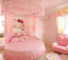hello kitty bedroom with round bed and pink bedding creating a hello kitty bedroom with round bed and pink bedding