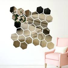 wall ideas hexagon wall mirror hexagon shaped wall mirror