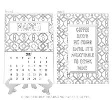 Desk Calendar With Stand Mommin Gold Foil Decal