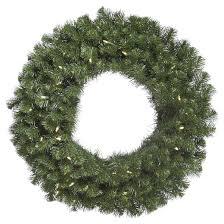 42 pre lit douglas fir wreath green white led lights