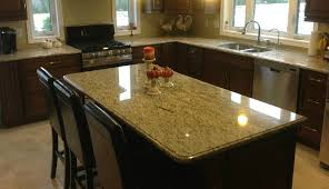 giallo ornamental light granite with ogee edge profile northern