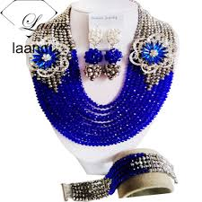 silver and royal blue wedding online get cheap nigerian traditional wedding beads in royal blue