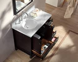 single sink vanity set w left offset sink in espresso ariel bath