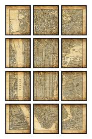 New York City Street Map by New York City Map 12 Panel New York City Manhattan Street Map