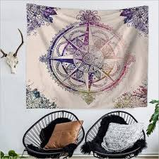aliexpress com buy home decor polyester fabric colorful compass