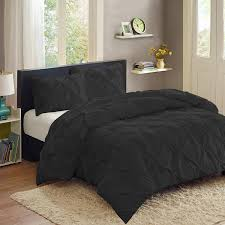 California King Black Comforter Black Pinch Pleat Comforter Set U2013 Ease Bedding With Style