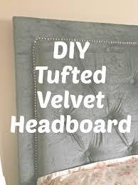 diy tufted velvet headboard u2013 nineteen twenty four london