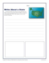 write about a state 1st and 2nd grade writing prompt worksheet