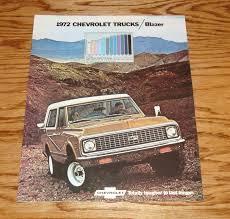 1972 chevrolet blazer sales brochure truck 4x4 72 chevy view