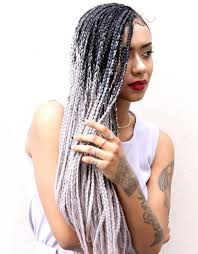 grey and purple combined together style box breads top 20 all the rage looks with long box braids