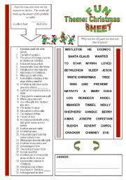 worksheet fun sheet theme christmas