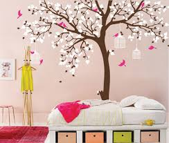 Nursery Bird Decor Bird Cage Tree Nursery Room Decor Baby Room Wall Decal Large Tree