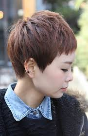 side and front view short pixie haircuts sharp sexy rihanna pixie cut boyish asian haircut for female