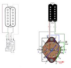 six way rotary switch for two singlecoils or one humbucker