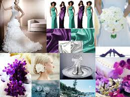 teal purple white pantone wedding styleboard the dessy group