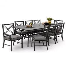 6 Chair Patio Dining Set Audubon 9 Piece Aluminum Patio Dining Set With 6 Side Chairs And
