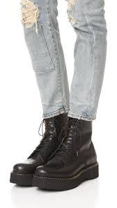 womens combat boots canada lyst r13 platform combat boots in black