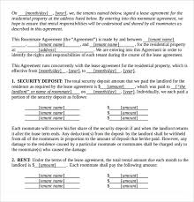 editable lease agreement template rental agreement home lease
