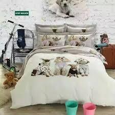 Girls Bedding Queen Size by Kawaii Dog Print Bedding Set King Queen Size Cartoon Quilt Duvet