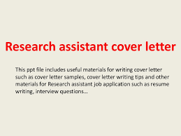 awesome collection of writing cover letter for research position