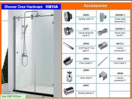 Shower Glass Door Parts Glass Shower Door Parts F86 In Amazing Home Interior Ideas With