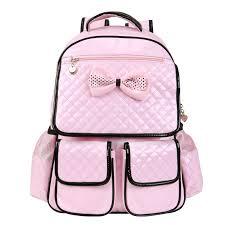 book bags with bows kız çocukları için 2015 ve 2016 pembe okul sırt çantası modelleri