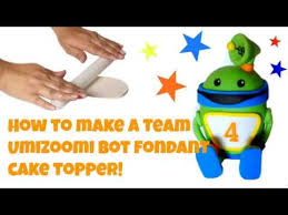 team umizoomi cake topper how to make a bot fondant cake topper team umizoomi