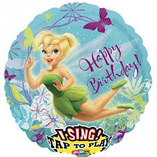 birthday balloons delivered tinkerbell birthday singing balloon delivered inflated in uk