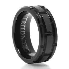 carbon wedding band cutlass men s 8 mm black tungsten carbide ring