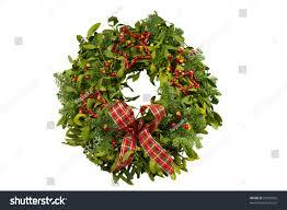 fresh wreath made real fir stock photo 97320902