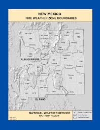 Nm State Map Maps New Mexico Fire Weather Zone Boundaries