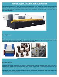 3 major types of sheet metal machines by guillotinesforsale issuu