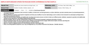 Welding Resume Examples by Pbx Operator Resume Switchboard Operator Resume Sample