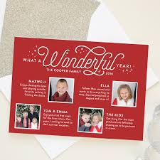 year in review christmas card photo cards banter and charm
