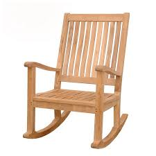 Patio Rocking Chairs Wood Shop Teak Amo Patio Rocking Chair At Lowes