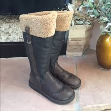 ugg shoes australia brown boots poshmark ugg ugg australia locarno brown leather boots 8 from tani s