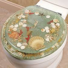 Amazon SEASHELL AND SEAHORSE RESIN TOILET SEAT STANDARD